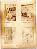 8  PHOTOS ANCIENNES De L´ ILE  DE  GROIX - 1892 / 1893   -   Photos D' Enfants . - Ancianas (antes De 1900)