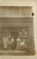 71 - MARCIGNY - Carte Photo - épicier Maderieux - (voir Scan Recto-verso) - Other Municipalities