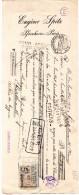 DOCUMENTS COMMERCIAUX, LETTRE DE CHANGE, EUGENE SPITZ, B.P.F. 29.15, Paris, Le 1 Juillet 1911, (fr : 1.40) - Lettres De Change