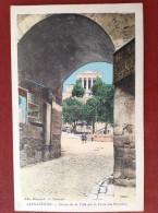 07 Ardèche  LARGENTIERE  Entrée De La Ville Par La Porte Des Récollets (couleur) - Largentiere