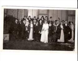 Photo Originale 1933 OUVILLE LA RIVIERE - Photo De Mariage  Au Café - Altri Comuni