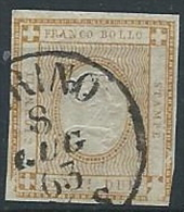 1862 REGNO USATO CIFRA 2 CENT - ED429 - 1861-78 Vittorio Emanuele II