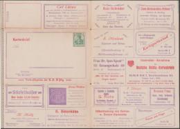 Allemagne 1908. Carte-lettre Annonces. Série XIX De Berlin. Or, Montres, Bijoux, Pianos, école De Chant, Dentelle - Musique