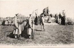 LES TROUPES POLONAISES EN FRANCE La Messe Au Camp - Militaria
