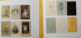 6 Photos Studio Enfants Photos Anciennes - Reproductions