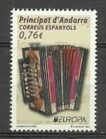 ANDORRA CORREO ESPAÑOL TEMA EUROPA 2014  SIN FIJASELLOS (K-1-C.04.14) - Andorra Española