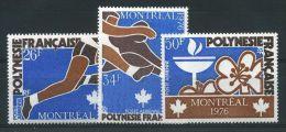 """POLYNESIE AERIENS N° 110/112  \"""" JO MONTREAL \"""" NEUFS XX TTB. - French Polynesia"""