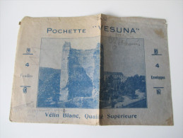 """Alter Briefumschlag Pochette """"Vesuna"""" Velin Blanc, Qualite Superieure Gefaltet!!! - Historische Dokumente"""