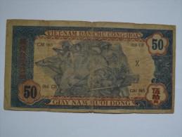 BILLET NORD VIETNAM - P.11 - VIETCONG - 50 DONG - 1947 - HO CHI MINH - BUFFLE - PAYSAN - OUVRIER - Vietnam