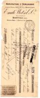 LETTRE DE CHANGE, MANUFACTURE D'HORLOGERIE, Emile WETZEL, B.P.F. 79.05, Paris, Le 26 Nov 1908, (fr : 1.40) - Lettres De Change
