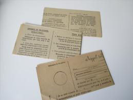Frankreich 1930 / 35 Telegramme 3 Stück Ungebraucht / Unused. Postes Telegraphes Et Telephones. No 698 - Historische Dokumente