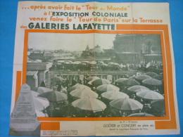 Affiche De 1931 Plan De L´exposition Coloniale Carte Offerte Par Les Galeries Lafayette 45x38cms - Affiches