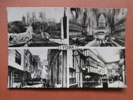 33250 PC: YORKSHIRE: York: York Minster From City Walls/The Choir, York Minster/The Shambles/Kirkgate Castle Museum.RP. - York