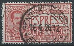 1925-26 REGNO USATO ESPRESSO 70 CENT - ED440 - Eilsendung (Eilpost)