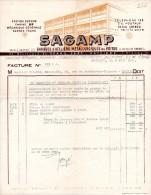 FACTURES, STATION SERVICE CHAINE B.P, SAGAMP, Poitiers, Le 8 Juin 1955, (fr : 1.40) - Cars