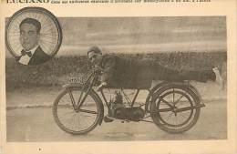 Réf : M-14-361  :  Luciano Excentricités Acrobatiques Sur Moto Spectacle, Cirque - Motorbikes