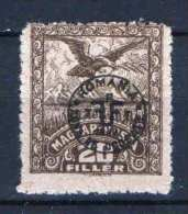 Hungary - DEBRECEN 1920. (Romania Occupation) Occupation Stamp 20f Stamp MNH (**) Animals / Birds - Local Post Stamps