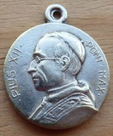 Mad-081 Médaille Ancienne Puis XII Sancti Anni MCML - Godsdienst & Esoterisme