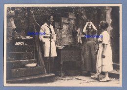 Photo Ancienne - THIZY ( Yonne ) - Scène D´une Famille Nommée Au Verso - 1925 - Humour Cuisine - Persone Identificate