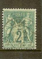 """FRANCE STAMP TIMBRE N° 62 \"""" SAGE 2c VERT TYPE I \"""" OBLITERE A VOIR - France"""