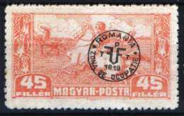 Hungary - DEBRECEN 1920. (Romania) Occupation Stamp 45 F Stamp MNH (**) - Local Post Stamps