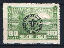 Hungary - DEBRECEN 1920. (Romania) Occupation Stamp 80 F Stamp MH (*) - Local Post Stamps