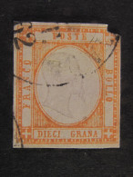 """ITALIA Antichi Stati Napoli -1861- """"Effigie In Rilievo"""" Gr. 10 US° DIF. (descrizione) - Neapel"""