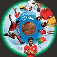 m14103b Mozambique 2014 Football Soccer Brasil s/s Eusebio