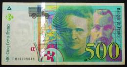 Beau Billet De 500 Frs Pierre Et Marie Curie 1994 Série T 014128848 - 1992-2000 Dernière Gamme