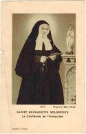 """IMAGE PIEUSE RELIGIEUSE HOLY CARD : """" Sainte Bernadette Soubirous La Confidente De L'Immaculée """" - Imágenes Religiosas"""