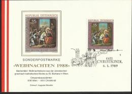 """Österreich, 4411 Christkindl  """"Weihnachten 1988""""   ANK Nr: 1974 - 1945-.... 2nd Republic"""