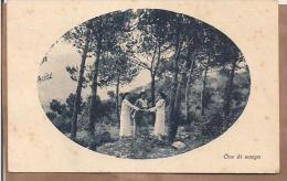 """Vecchia Cartolina """"Ore Di Svago"""" Viaggiata Nel 1926 Da Anqua (SI) - Donne"""