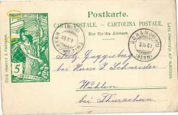 PK 31 UPU  Schangnau - Thierachern             1900 - Entiers Postaux