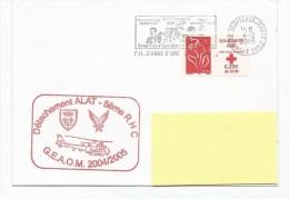 ALAT+ 5emeRCH  PH JEANNE D'ARC ESCALE INDONESIE ET TIMBRE SOLIDARITE 6/2/2005 - Poste Navale