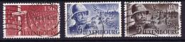 1947   Général Patton  3 Valeurs: 1,50 Fr, 3,50 Fr, 10 Fr.