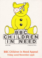 Teddy Bear With Handkerchief Over Eye, BBC Children In Need Appeal, London, England, PU-1996 - Games & Toys