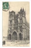 Cp, 80, Amiens, La Cathédrale, Voyagée 1913 - Amiens
