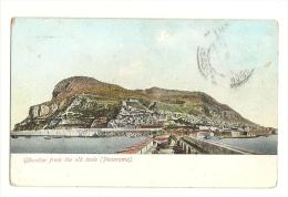 Cp, Gibraltar From The Old Mole, Panorama, Voyagée 1909 - Gibraltar