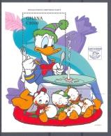 MzrA116 WALT DISNEY DONALD DUCK 60TH ANNIVERSARY GHANA 1995 PF/MNH - Disney