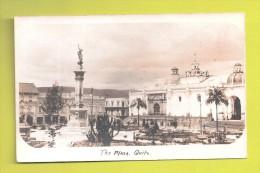 RP ECUADOR  THE PLAZA QUITO  USED 1912 Velox Back - Equateur