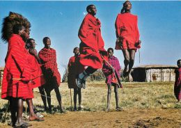 Traditional Masai Dance, Kenya Postcard - Kenya