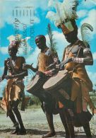 Traditional Dancers, Kenya Postcard Used Posted To UK 1988 Stamp - Kenya