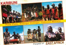 Native Tribal Peoples, Kenya Postcard Used Posted To UK 2002 Stamp - Kenya