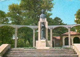 Mihai Eminescu Statue, Constanta, Romania Postcard Used Posted To UK 1981 Stamp - Romania