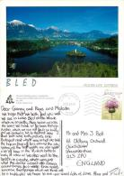Bled, Slovenia Postcard Used Posted To UK 2009 Stamp - Slovenia