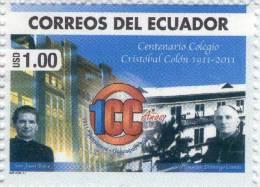 Lote EC76, Ecuador, 2011, Sello, Stamp, Centenario Del Colegio Cristobal Colon, San Juan Bosco - Ecuador