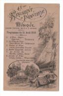 NORD / LILLE / JARDIN VAUBAN / Programme Du 21 Août 1898 De La Musique Militaire Du 43 ème Régiment D' Infanterie - Lille