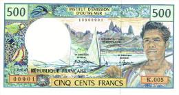 K.005 Nouvelle Caledonie Noumea Billet Monnaie Banknote IEOM 500 Francs Cfp Débuts Neuf  UNC RRR - Banknotes