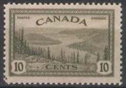 CANADA 1946 10c Great Bear Lake SG 402 UNHM FD45 - 1937-1952 Règne De George VI