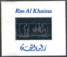 2745 ✅ Space Apollo Silver 1972 Ras Al Khaima S/s MNH ** - Raumfahrt